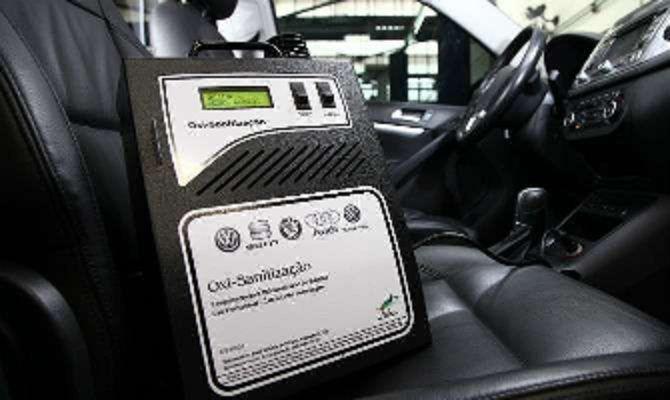 Higienização do ar condicionado com ozônio